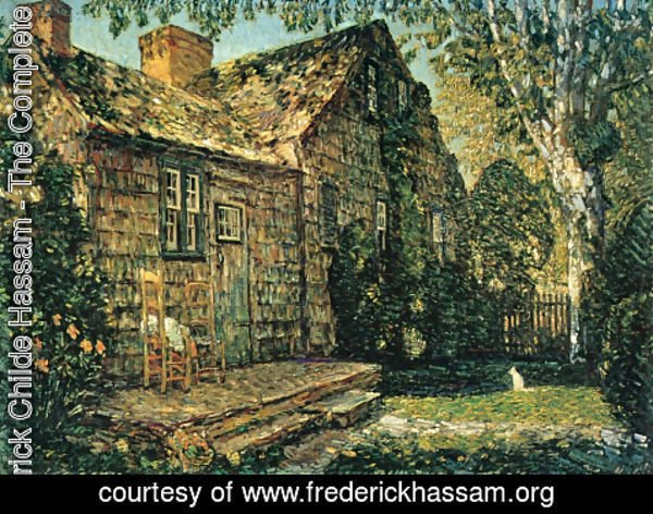 Frederick Childe Hassam - Little Old Cottage, Egypt Lane, East Hampton