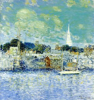 Frederick Childe Hassam - Newport Waterfront