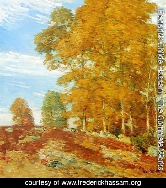 Frederick Childe Hassam - Autumn Hilltop, New England