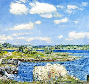 Frederick Childe Hassam - Mill Site and Old Todal Dam, Cos Cob