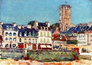 Frederick Childe Hassam - The Quai, Lannion