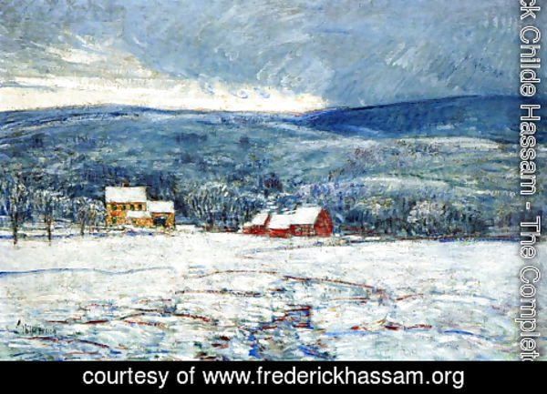 Frederick Childe Hassam - Winter in the Connecticut Hills