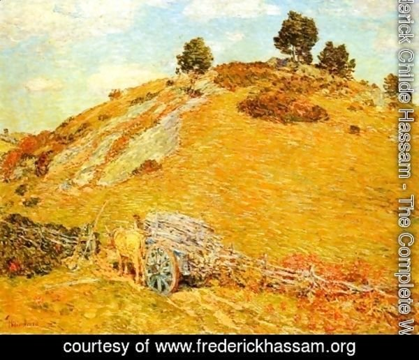 Frederick Childe Hassam - Bornero Hill, Old Lyme, Connecticut