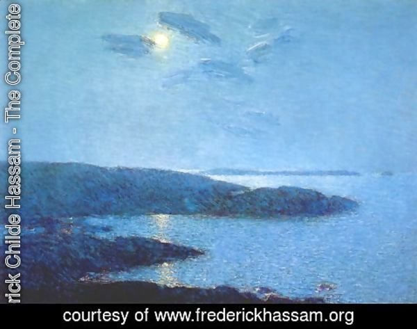Frederick Childe Hassam - Moonlight Scene