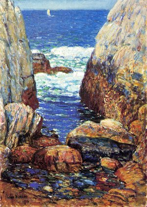 Frederick Childe Hassam - Sea and Rocks, Appledore, Isles of Shoals