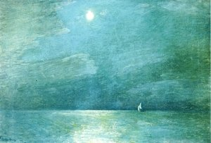 Frederick Childe Hassam - Moonlight on the Sound