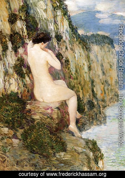 Frederick Childe Hassam - Nude on the Cliffs