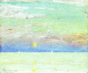 Frederick Childe Hassam - Moonrise at Sunset I