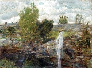 Frederick Childe Hassam - The Quarry Pool, Folly Cove, Cape Ann
