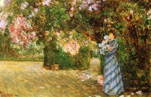 Frederick Childe Hassam - Mrs. Hassam at Villiers-le-Bel