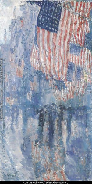 The Avenue In The Rain 1917