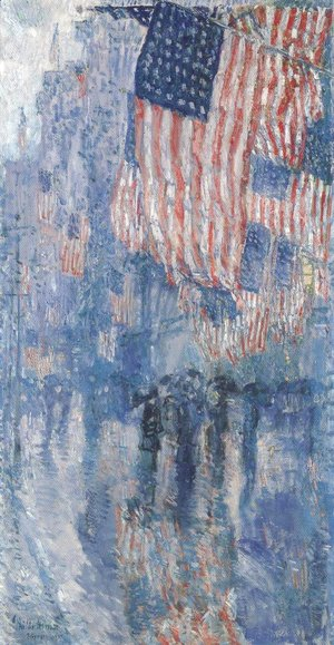 Frederick Childe Hassam - The Avenue In The Rain 1917
