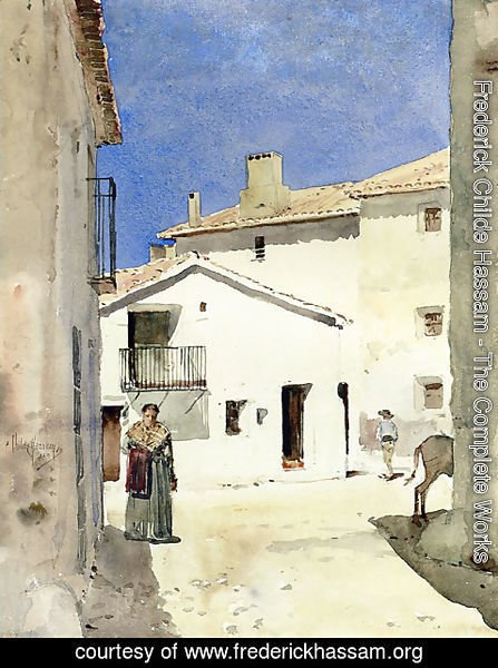 Frederick Childe Hassam - A Street in Denia Spain