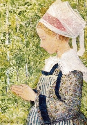 Frederick Childe Hassam - Brittany Peasant at The Pardon