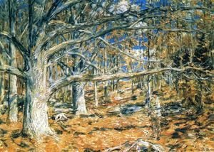 Frederick Childe Hassam - Connecticut Hunting Scene