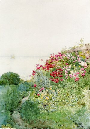 Frederick Childe Hassam - Field of Poppies, Isles of Shaos, Appledore