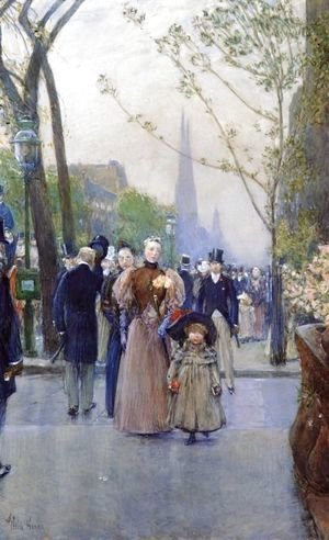 Frederick Childe Hassam - Fifth Avenue (also known as Sunday on Fifth Avenue)