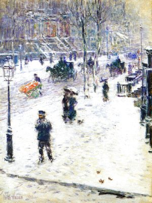 Frederick Childe Hassam - Fifth Avenue in Winter1