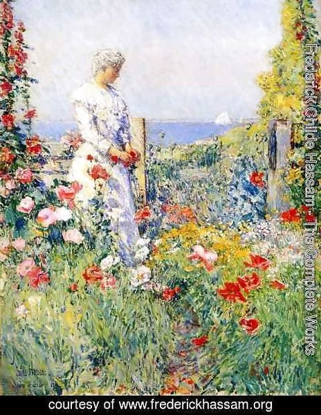 Frederick Childe Hassam - In the Garden1 (also known as Celia Thaxter in Her Garden)