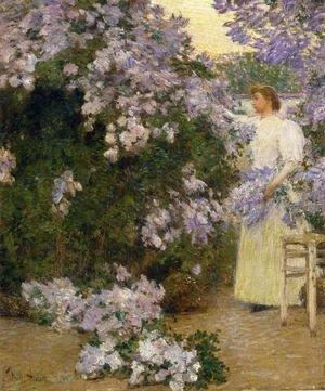 Frederick Childe Hassam - Mrs. Hassam in the Garden1