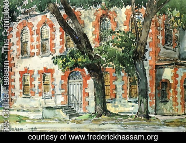 Frederick Childe Hassam - Old Dutch Building, Fishkill, New York