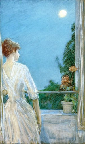 Frederick Childe Hassam - On the Balcony