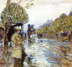 Frederick Childe Hassam - Rainy Day, Paris