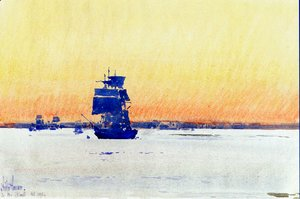 Frederick Childe Hassam - Sailing Ship Locked in Ice1