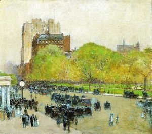 Frederick Childe Hassam - Spring Morning in the Heart of the City (also known as Madison Square, New York)