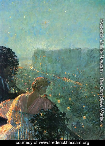 Frederick Childe Hassam - Summer Evening, Paris