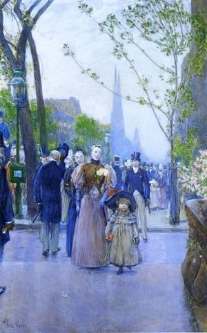 Frederick Childe Hassam - Sunday on Fifth Avenue (also known as Fifth Avenue, Church Parade)