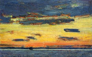 Frederick Childe Hassam - Sunset on the Sea