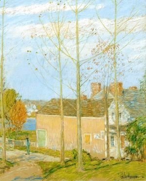 Frederick Childe Hassam - The Barn, Cos Cob