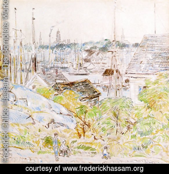 Frederick Childe Hassam - The Harbor of a Thousand Masts, Gloucester