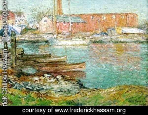 Frederick Childe Hassam - The Red Mill, Cos Cob