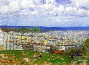 Frederick Childe Hassam - View of New York from the Top of Fort George