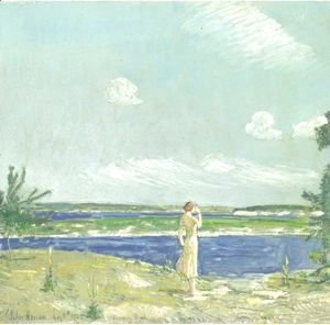 Frederick Childe Hassam - Woman Looking At The Sea