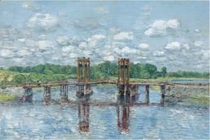 Frederick Childe Hassam - The Toll Bridge, New Hampshire, Near Exeter