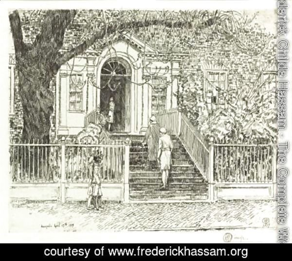 Frederick Childe Hassam - The Chase House (Cortissoz - Clayton 309)