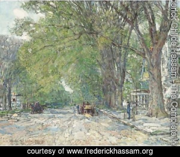 Frederick Childe Hassam - Easthampton Elms In May
