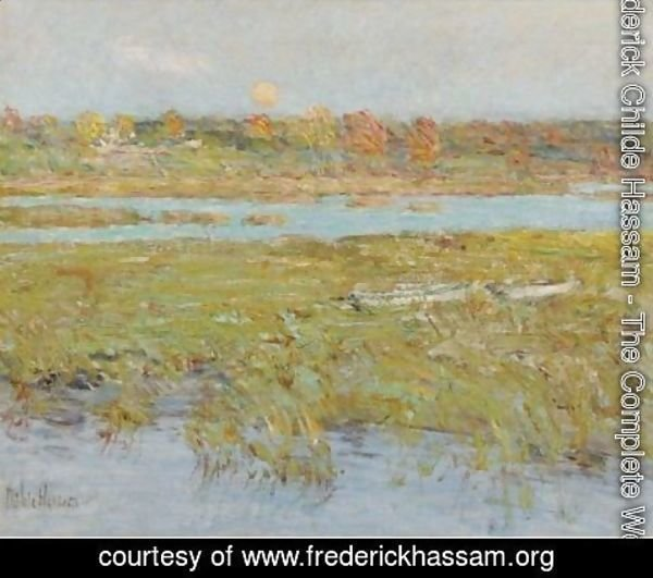 Frederick Childe Hassam - Harvest Moon (Marsh And Meadow)