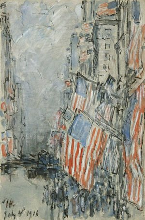 Flag Day, Fifth Avenue, July 4th 1916