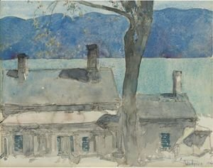 Frederick Childe Hassam - Old House, Newburgh, New York