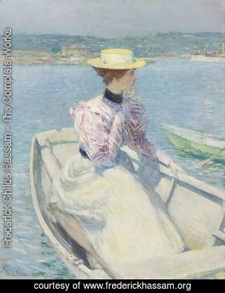 Frederick Childe Hassam - The White Dory, Gloucester