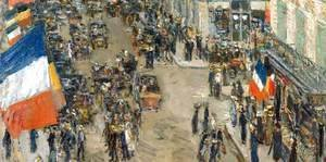 Frederick Childe Hassam - The 14th July, Rue Daunou (detail)