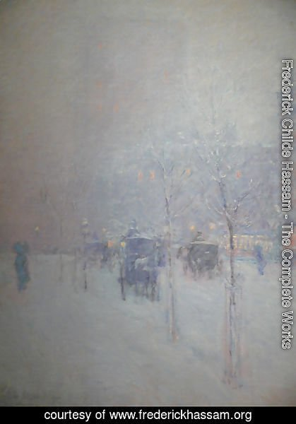 Frederick Childe Hassam - New York, Late Afternoon, Winter