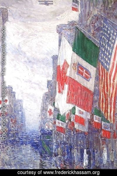 Frederick Childe Hassam - Italian day, May