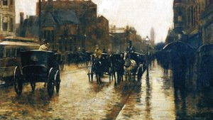 Frederick Childe Hassam - Columbus Avenue Rainy Day