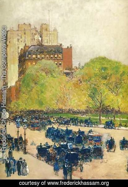 Frederick Childe Hassam - Spring Morning in the Heart of the City (aka Madison Square, New York)