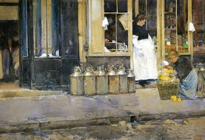 Frederick Childe Hassam - Flower Store and Dairy Store
